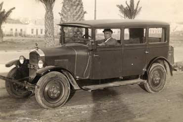 Giovanni Spampinato driving his taxi in Tunis