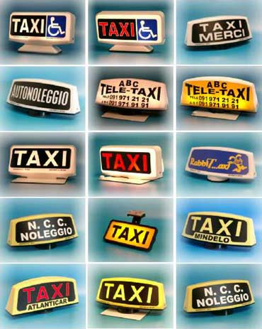 Lumineux Taxi personnalisables Spampinato